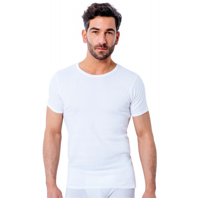 T Shirt Homme Manche Courte Tribothermic Blanc Taille 2