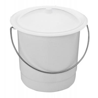 Seau Hygiénique Plastique Blanc