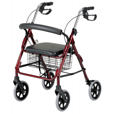Rollator 4 Rouess HOMECRAFT Argent