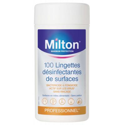 MILTON Lingette Agro Désinfectante Boîte de 100 Lingettes