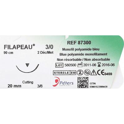 Suture FILAPEAU DEC 0,7 USP 6/0 12mm F90cm