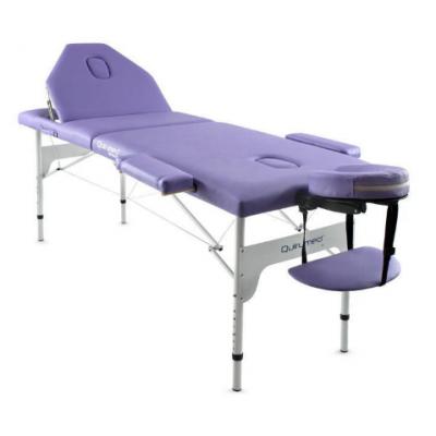Table de massage pliante en aluminium Mauve 186x66 cm