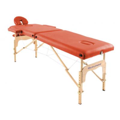 Table de massage pliante en bois 182 x 60 cm sans dossier Orange