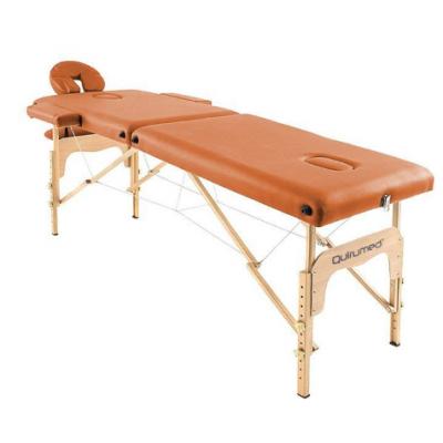 Table de massage pliante en bois 186 x 66 cm sans dossier Orange