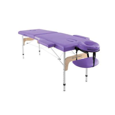 Table de massage pliante en aluminium 180 x 60 cm sans dossier Mauve