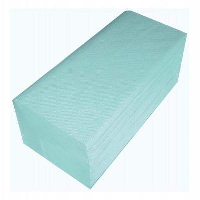 Essuie-mains Enchevêtre en V 2 plis gaufrés 24g/m² 22X23cm 150F Vert