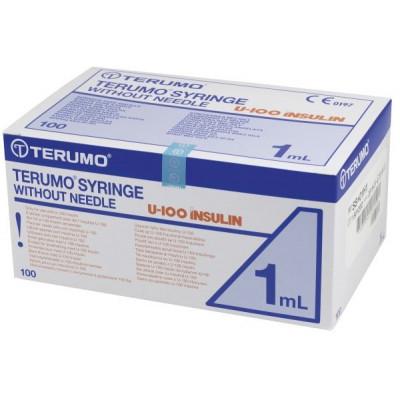 Seringue TERUMO Insuline 1ml 100U sans aiguille
