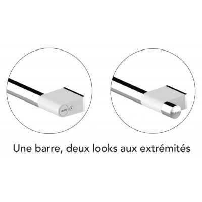 Barre d'Appui 600mm 45° ONYX Duo White