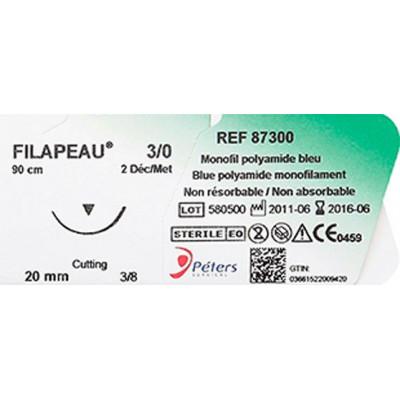 Suture FILAPEAU DEC 2 USP 3/0 20mm F90cm