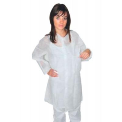 Blouse Blouse Visiteur 2 Poches Pression Taille XL Blanche