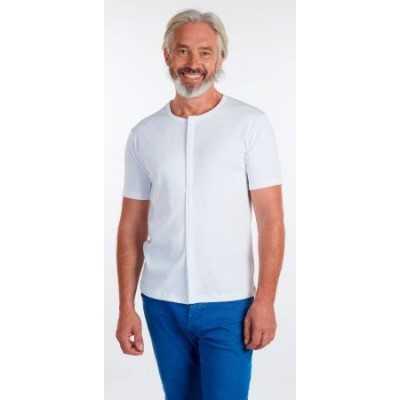 Tee Shirt Mixte Manche Courte Ouvert Devant Aimant Blanc Taille 3