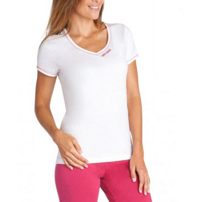 T Shirt Manche Court Taille 1 Framboise Blanc