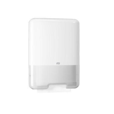 Distributeur blanc d'essuie-mains papier - Système H3 - Pliage C/Z - Tork