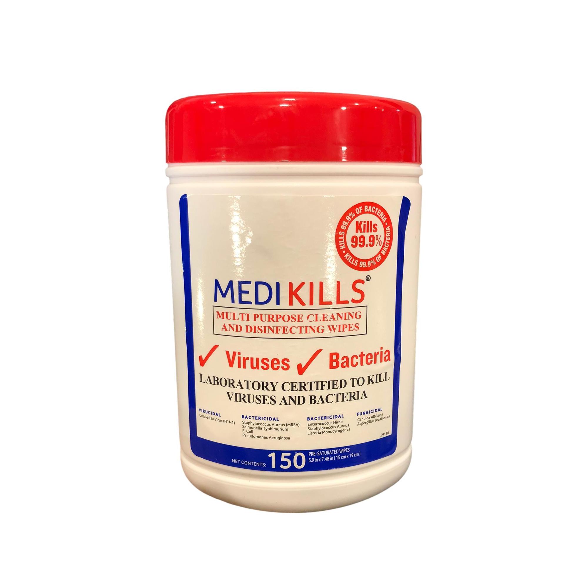 Lingettes virucides - Boite de 150 lingettes - Medikills