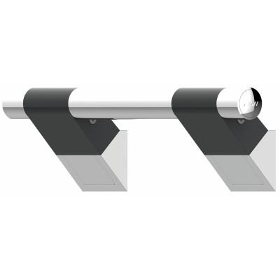 Barre d'Appui Inclinée 45° - 3 dimensions - ONYX Duo Black - AKW