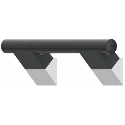 Barre d'Appui Inclinée 45° - 3 dimensions - ONYX Finition Black - AKW
