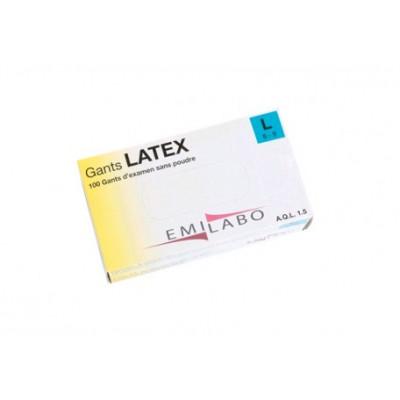 Gants d'examens latex - Sans poudre - Ambidextres