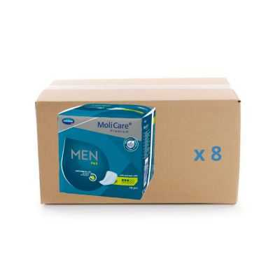 Protège slip Molicare Premium Men Pad 3 gouttes - carton 8x14U - Hartmann
