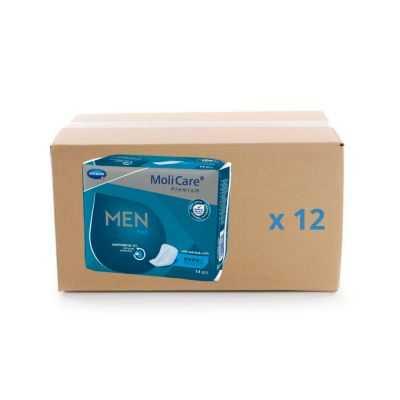 Protège slip Molicare Premium Men Pad 4 gouttes - carton 12x14U - Hartmann
