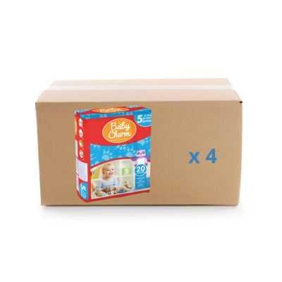 Couche Baby Charm Super Dry Pants - Junior - 4x20U - Ontex