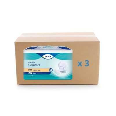 Protection anatomique Tena Confort ProSkin - Normal - carton 3x42U - Tena