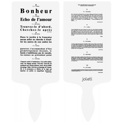 Echelle Main Parinaud Recto Verso (2 modèles) - JOLETI