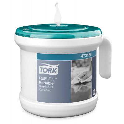 TORK Distributeur Portable Bobine Reflex Turquoise