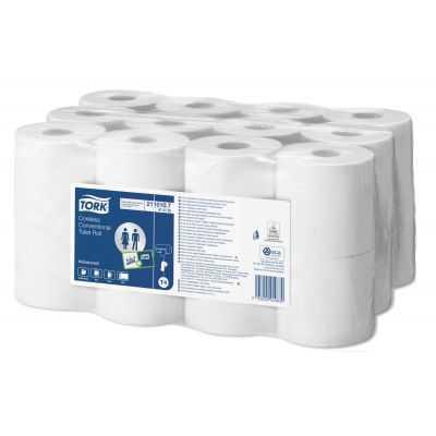 24 rouleaux de 400 formats Papier Toilette Tork COMPACT - TORK
