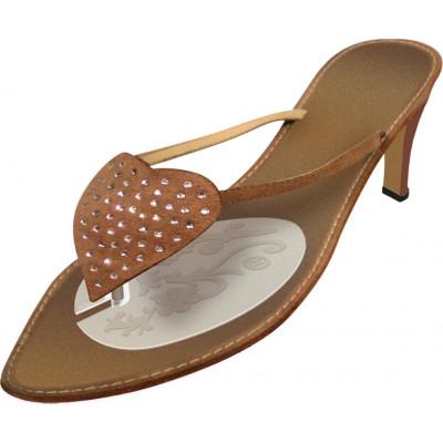 Coussinet en gel avec adhérence - Pour chaussures ouvertes type tongs - 1 paire