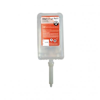 Alkafresh - Gel hydroalcoolique glycériné pour la désinfection des mains - Flacon airless - 1 L - Alkapharm