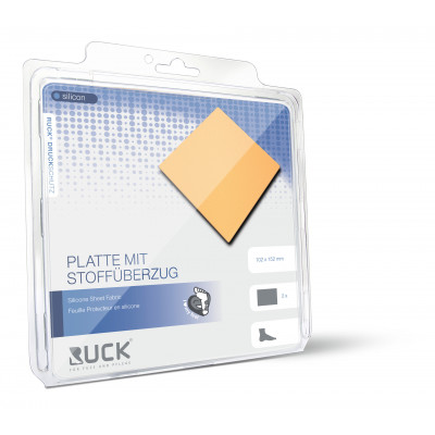 Protection en silicone - Plaque avec revêtement tissu - Ruck